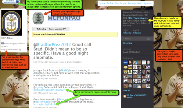 Screenshot of @MCPONPAO 8-10-09